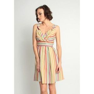 Eva Franco Rainbow Striped Dress Size 6